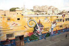 artist Skount      location: Jaffa port, Tel Aviv, Israel