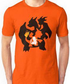 Charmander Charmeleon Charizard T-Shirt Tshirt Tee