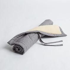 couverture pour chien tweed gris