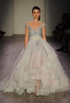 1000 images about classy wedding dresses on pinterest for Lazaro a line wedding dress