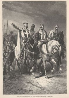 The four main leaders of the first crusade Bohemond I, Godfrey of Bouillon, Raymond (Count of Toulouse), Robert (Count of Flanders), essentially an invasion of the holy land by Norman knights to help liberate christians who were supposedly being tortured. The result was 200 years of war and 100's of 1000's dead plus an ongoing legacy of violence today.