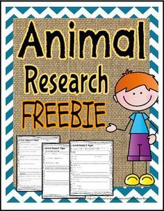 """FREE LESSON - """"Animal Research Paper Template"""" - Go to The Best of Teacher Entrepreneurs for this and hundreds of free lessons. 2nd - 3rd Grade #FreeLesson http://www.thebestofteacherentrepreneurs.net/2016/05/free-misc-lesson-animal-research-paper.html"""