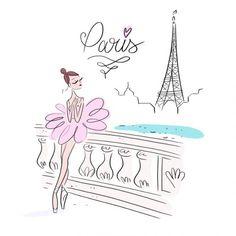 Illustrators, Illustration Sketches, Paris Illustration, Illustration, Drawings, Pretty Drawings, Ballet Art, Art, Christmas Drawing