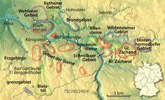 Die Teilgebiete im Klettergebiet Sächsische Schweiz