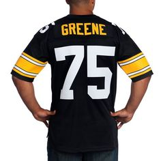 1dff73cb1 ... Picture of Pittsburgh Steelers Mitchell Ness Premier Replica 75 Joe  Greene Home Jersey ...