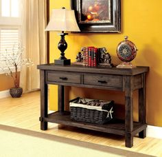 Pondo Transitional Sofa Table