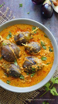 Bharli Vangi Recipe (Maharashtrian Style Stuffed Baby Eggplant)