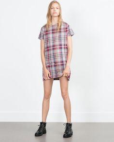 ZARA - WOMAN - CHECKED DRESS