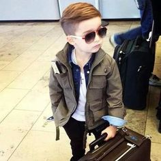 Cute kid thinkin of cuttin mijos hair like that..tired of the tapered fade