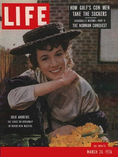 """Julie Andrews ~ Life Magazine ~ March 26, 1956 issue ~ Click image to purchase. Enter """"pinterest"""" at checkout for a 12% discount."""