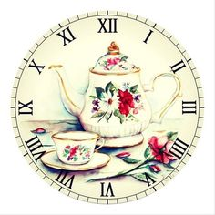 Decoupage Vintage, Decoupage Paper, Vintage Ephemera, Vintage Paper, Vintage Postcards, Vintage Labels, Clock Art, Diy Clock, Wall Clocks