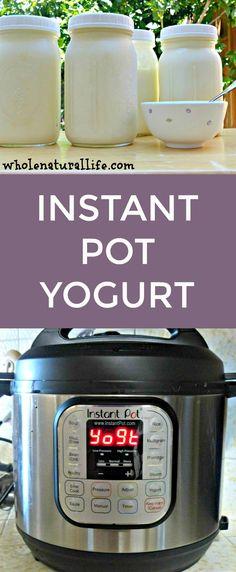 Make easy homemade yogurt in your Instant Pot! Make easy homemade yogurt in your Instant Pot! Electric Pressure Cooker, Instant Pot Pressure Cooker, Pressure Cooker Recipes, Pressure Cooking, Slow Cooker, Pressure Pot, Easy Yogurt Recipe, Instant Pot Yogurt Recipe, Homemade Yogurt Recipes