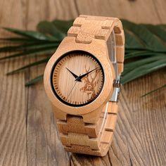 Bamboo Watch for Women Bracelet Clasp Bracelet Clasps, Bracelets, Elk Head, Cheap Watches, Wooden Watch, Beautiful Watches, Luxury Watches, Bamboo, Band