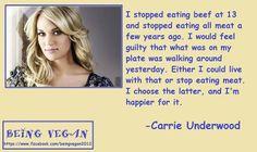 Carrie Underwood VEGAN.