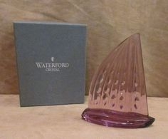 Waterford Crystal Sails Laguna Seca 1996 glass paperweight sailboat trophy #Waterford
