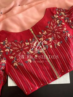 Hand Work Blouse Design, Simple Blouse Designs, Stylish Blouse Design, Designer Blouse Patterns, Fancy Blouse Designs, Kurta Designs, Maggam Work Designs, Embroidery Works, Siri