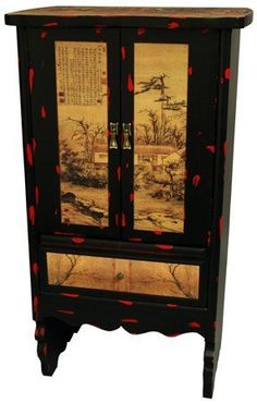 Oriental Furniture Best Deal Big Discount Markdown Clearance, 43-Inch Chinese Landscape Oriental Large Storage Cabinet by ORIENTAL FURNITURE, http://www.amazon.com/dp/B002SXYYSG/ref=cm_sw_r_pi_dp_Fq4rrb198ZSEF