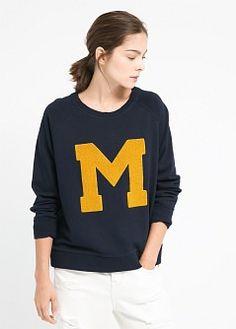 Sweatshirt im college-look - Mäntel für Damen | MANGO