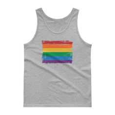 Mississippi LGBT Gay Pride Rainbow White Adult Tank Top