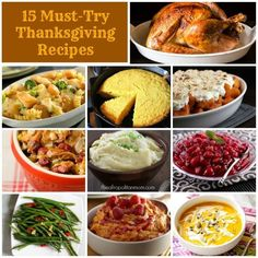 GOBBLE! GOBBLE! Turkey Day is almost here! Add these 15 delicious Must-Try Thanksgiving Recipes to your menu.