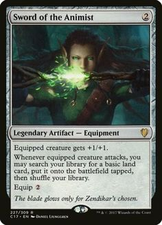 1 PreCon Sword of the Animist - Artifact Commander 2017 Mtg Magic Rare Merfolk Deck, Elesh Norn, Magic The Gathering Store, Dungeons And Dragons Memes, Magic Cards, Wizards Of The Coast, Cool Cards, Card Games, Game Cards