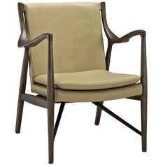 Makeshift Leather Lounge Chair EEI-1663-WAL-TAN