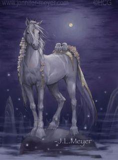 bella sara serenity - Google Search Mane N Tail, Horse Art, Love Birds, Moonlight, Serenity, Anime Art, Original Art, Horses, Fantasy