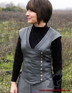 Bodice Saberist Leather Corset by Ravenswood Leather