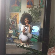 Beautiful Black Girl, Pretty Black Girls, Black Girl Art, Black Girl Magic, Art Girl, Art Hoe Aesthetic, Black Girl Aesthetic, Photographie Indie, Curly Hair Styles