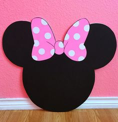 2FT Minnie Mouse Head Customizable Cutouts Party Decor Photo Prop Minnie Mouse Birthday Decorations, Minnie Mouse Theme Party, Minnie Mouse 1st Birthday, Minnie Mouse Baby Shower, Girl 2nd Birthday, Birthday Diy, Baby Shower Princess, Sibling Birthday Parties, Kids Birthday Themes