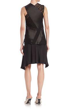 3.1 Phillip Lim Paneled Crossback Two-Piece Silk Dress