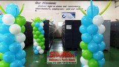 GF Micro Optics Laguna Technopark, Binan Laguna Balloon Pillars, Company Anniversary, Balloons, Party, Globes, Balloon, Parties, Hot Air Balloons