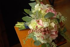 Soft tones for a winter wedding. See more on Facebook at Blessings & Blossoms or check out my website at blessingsandblossoms.com