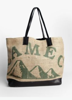 The limited edition Java Tote is handmade in Brooklyn, NY. Partnering with Brooklyn Roasting Company, each bag is made of recycled coffee bean bags from Bali, Brazil, Mexico, Ethiopia and Peru so no two bags are alike!