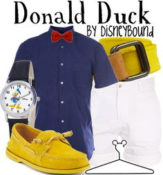 Disney Bound - Donald Duck. I have yellow boat shoes and I will be disney bounding as Donald VERY soon