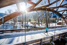 """Rave Run: Ketchum, Idaho - """"As part of the Wood River Trail System, this bridge on the Warm Springs Pathway connects runners with more than 20 miles of paved routes. Ketchum Idaho, Wood River, River Trail, Runners World, Runners High, Born To Run, Sun Valley, Run Around, Outdoor Camping"""