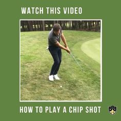 How to play a chip shot and get the golf ball close to the hole so you save par.