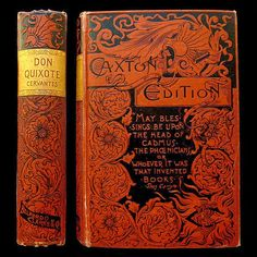 IsFive Books: Various Turn of the Century Decorative Cloth Publisher Bindings Part 2 Cervantes Don Quixote