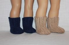 2 pairs hand knit socks, 18 inch doll clothes by UpbeatPetites on Etsy