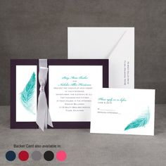 Beautiful!! :) Delicate Feather - Layered Invitation
