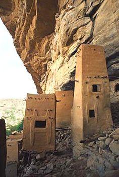 Cliffside Granaries. Dogon Country, Mali by Don Gurewitz