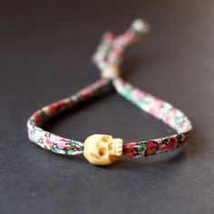 bracelet, skull, liberty, bone