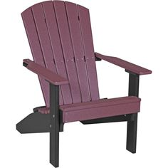 Au0026L Furniture Co. Folding Reclining Recycled Plastic Adirondack Chair W/  Pullout Ottoman | Plastic Adirondack Chairs, Ottomans And Easy Storage