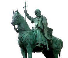Statue of King Saint Louis IX at the Sacré-Coeur, Paris Medieval, Luis Ix, Equestrian Statue, Sculptures, Lion Sculpture, London History, Military History, St Louis, Catholic