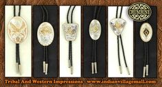 Crumrine Bolo Ties- Sterling Silver And Gold Plated On German Silver 36 Inch Cords- Gold Two Tone- Crumrine known worldwide for top quality!  From Tribal And Western Impressions - Review off of: http://www.indianvillagemall.com/menswesternbolosets.html