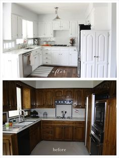 Painting Your Kitchen Cabinets White | Before & After