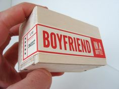 Boyfriend in a Bottle (TM) - Ships in 2-3 business days. $11.99, via Etsy.