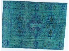 Blue/Turquoise Overdye Rug OD2243