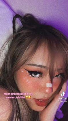 Goth Eye Makeup, Bts Makeup, Punk Makeup, Anime Makeup, Crazy Makeup, Kawaii Makeup Tutorial, Smoky Eye Makeup Tutorial, Makeup Hacks Videos, Makeup Tips