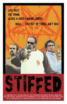 """Thrifty Film Review #23: """"Stiffed"""" http://www.thriftyfilmcritic.com/?p=81.  A film about bank robbers becoming zombies who continue to do what they do best: committing crimes. This movie is one of the best satires about crime movies as well as zombie films. $4/$5"""